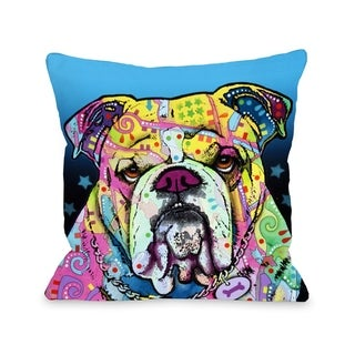The Bulldog  Pillow by Dean Russo