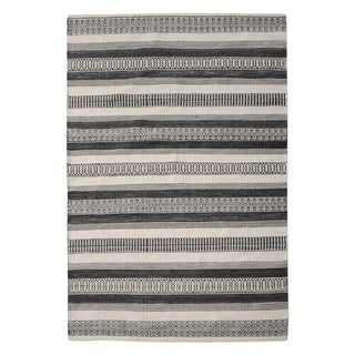 Uttermost Scottia Charcoal and Ivory Rug - 5' x 8'