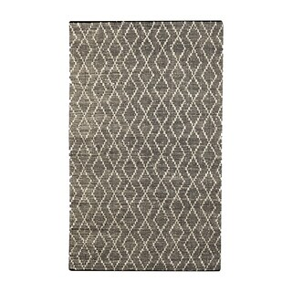 Uttermost Winnow Black and Beige Leather Rug - 8' x 10'
