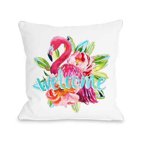 Welcome Flamingo - Pink Pillow by OBC