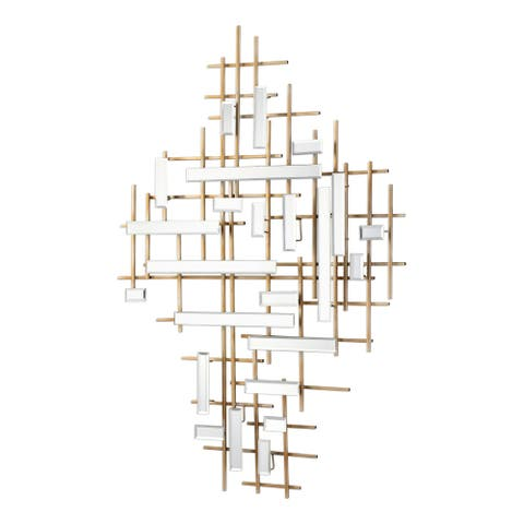 Uttermost Apollo Gold and Mirrored Wall Art