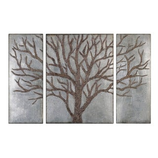 Uttermost Winter View Rustic Tree Mirrors (Set of 3) - 40 x 60