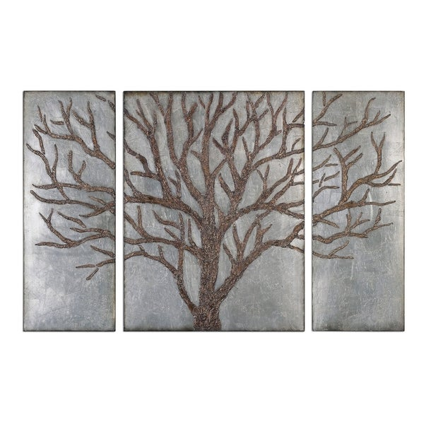 Uttermost Winter View Rustic Tree Mirrors Set Of 3 40 X 60