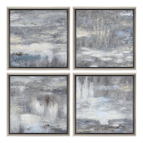 Uttermost Shades of Grey Hand Painted Art (Set of 4) - Multi-color
