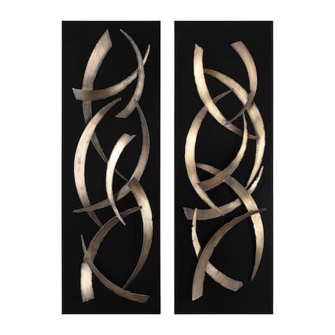 Uttermost Brushstrokes Metal Wall Arts (Set of 2)
