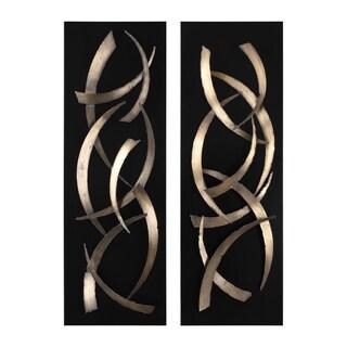 Uttermost Brushstrokes Metal Wall Arts (Set of 2)