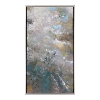 Uttermost Roaring Thunder Modern Art - Grey/Blue/White