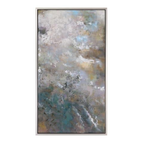 Uttermost Roaring Thunder Modern Art - Grey