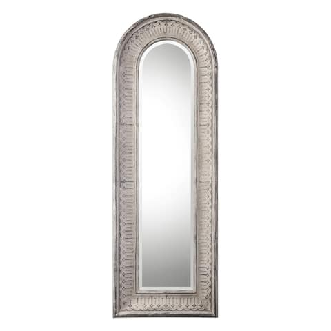 Uttermost Argenton Distressed Taupe Ivory Mirror