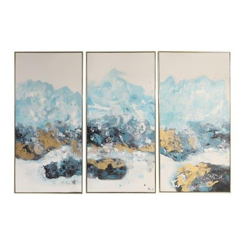 Uttermost Crashing Waves Abstract Art (Set of 3)