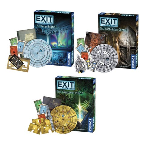 Thames & Kosmos Exit the Game Bundle of 3: The Polar Station/ The Forgotten Island/ The Forbidden Castle
