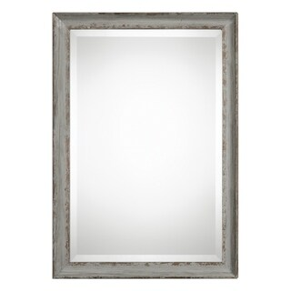 Uttermost Hattie Distressed Aged Blue Grey Mirror