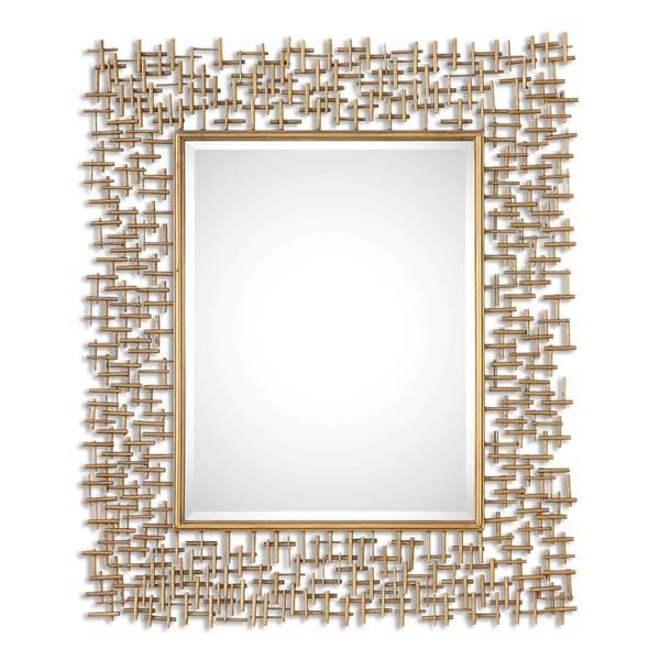 Uttermost Nevena Antiqued Gold Leaf Mirror