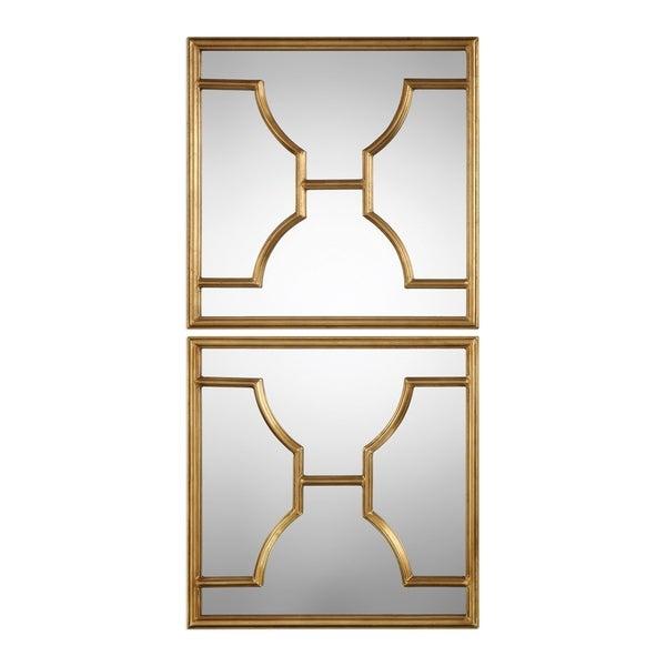 Shop Uttermost Misa Antiqued Gold Leaf Mirror Set Of 2 Free
