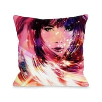 Her Time To Shine - Pink Multi  Pillow by OBC