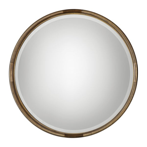 Uttermost Finnick Antiqued Gold Leaf Mirror
