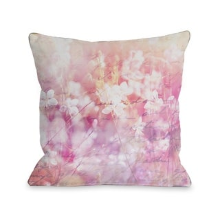 Roaming the Field - Pink  Pillow by OBC