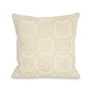 Doily Cream - Cream  Pillow by OBC