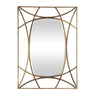 Uttermost Abreona Antiqued Metallic Gold Leaf Mirror