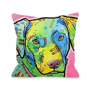 Labrador 18x18 Pillow by Dean Russo