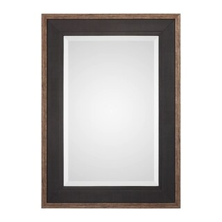 Uttermost Staveley Rustic Black Mirror