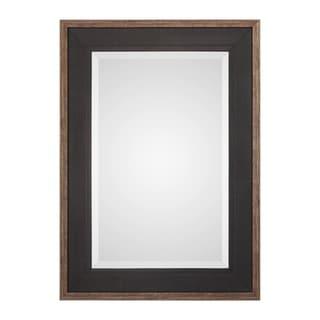 Uttermost Staveley Rustic Black Mirror