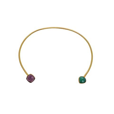 Alchemy Jewelry Smoky Quartz with Peru Chalcedony Gemstone Alchemy Necklace