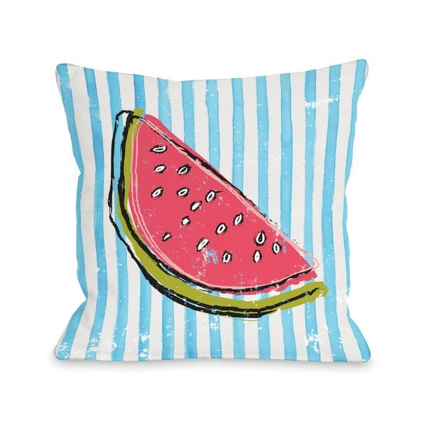 Whatthemelon - Blue Multi Pillow by OBC