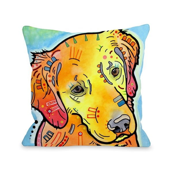 The Goldenish Retriever 18x18 Pillow by Dean Russo