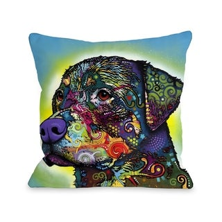 The Rottweiler 18x18 Pillow by Dean Russo
