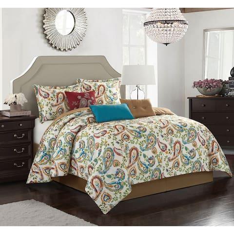 Grand Avenue Carmel Paisley 7 Piece Comforter Set