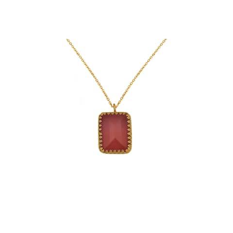 Alchemy Jewelry Red Princess Bezel Necklace