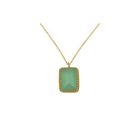 Alchemy Jewelry Chalcedony Princess Bezel Necklace