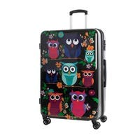 AGT Owls 24-inch TSA Lock Expandable Spinner Suitcase