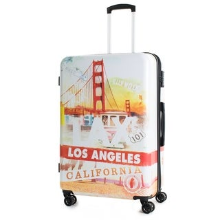 AGT California 28-inch TSA Lock Expandable Spinner Suitcase