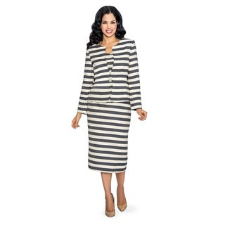 Giovanna Signature Women's 3-piece Striped Skirt Suit (More options available)