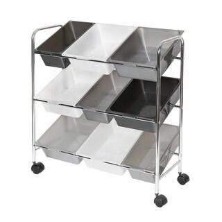 Seville Classics Mobile 9-Bin Storage Organizer, Gradient Gray