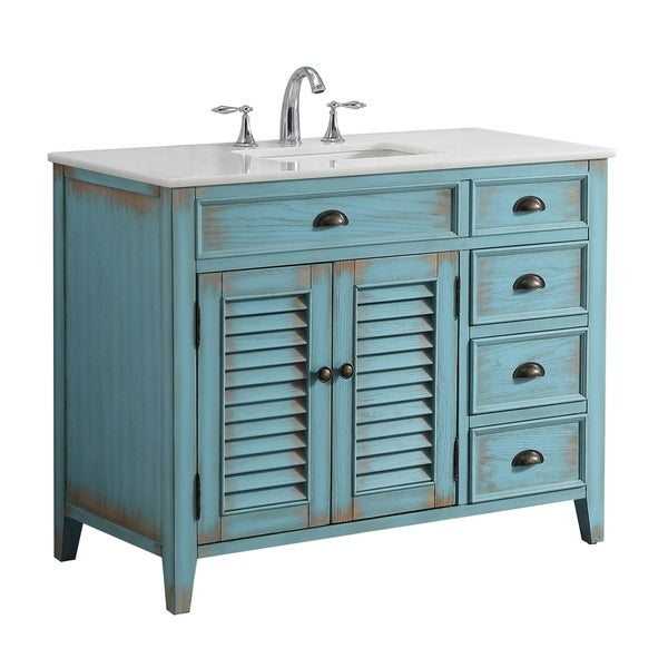 Shop Modetti Palm Beach 42-inch Single Sink Bathroom ...