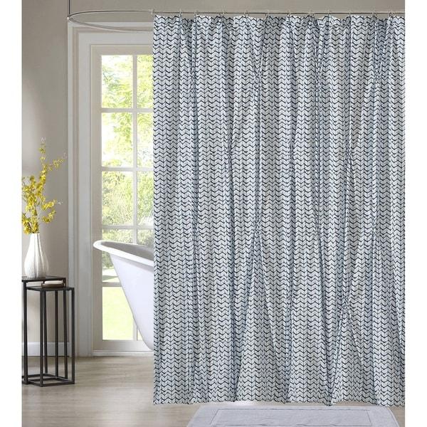 Shop Style Quarters Blue Batik Shower Curtain-Shibori