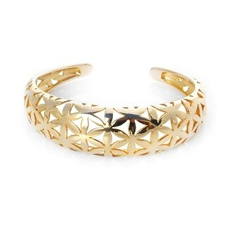 Alchemy Jewelry Flower of Life Gold Cuff - N/A