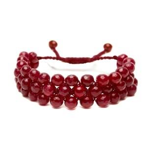 Alchemy Jewelry Ethical Handmade Ruby Chalcedony Adjustable Cuff Bracelet