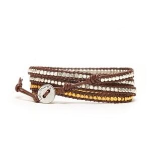 Alchemy Jewelry GOLD & SILVER MINI-BEADED 4 WRAP BRACELET