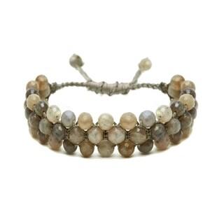 Alchemy Jewelry Ethical Handmade Labradorite Gemstone Adjustable Cuff Bracelet