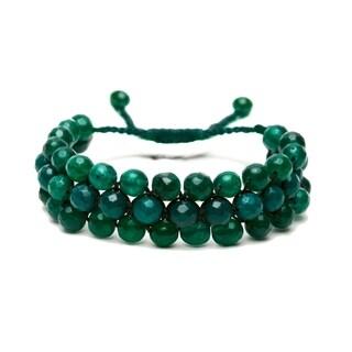 Alchemy Jewelry Ethical Handmade Emerald Gemstone Adjustable Cuff Bracelet