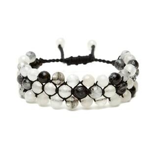 Alchemy Jewelry Ethical Handmade Tourmalated Quartz Adjustable Cuff Bracelet