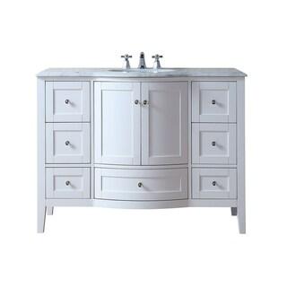 Stufurhome Marilyn 48 Inch Bathroom Sink Vanity Cabinet