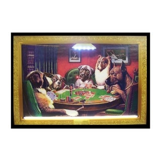 Neonetics Indoor Hand Blown Dogs Playing Poker Neon LED Picture - Multicolor
