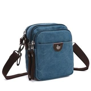 Dasein Mini Vintage Unisex Canvas Messenger Bag/Cross body (5 options available)