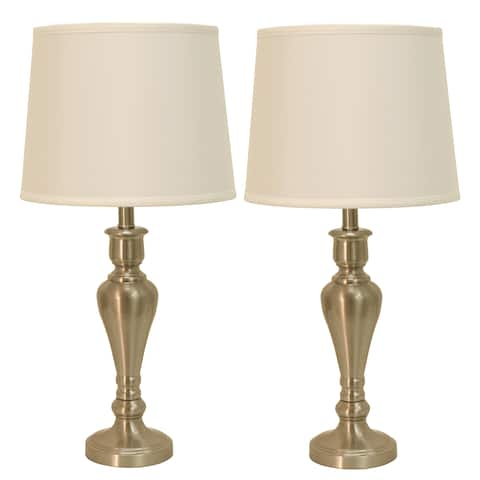 Set of 2 Marie Steel Touch Control Table Lamps