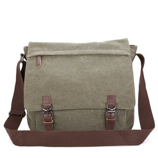 Link to Dasein Vintage Unisex Large Canvas Messenger Bag/Cross body Similar Items in As Is
